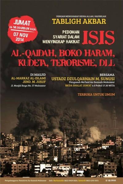 Tabligh Akbar-Pedoman Syariat dalam Menyingkap Hakikat ISIS, Al-Qaidah, Boko Haram, Terorisme, Makassar
