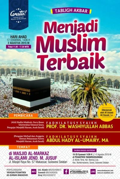 Tabligh Akbar Ulama Ke-4 di Masjid Al-Markaz Al-Islami Makassar 1436/2015